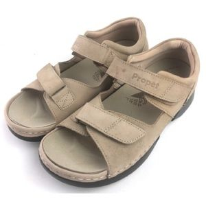 Propet Pedic Walker Sandals W0089 Taupe Nubuck